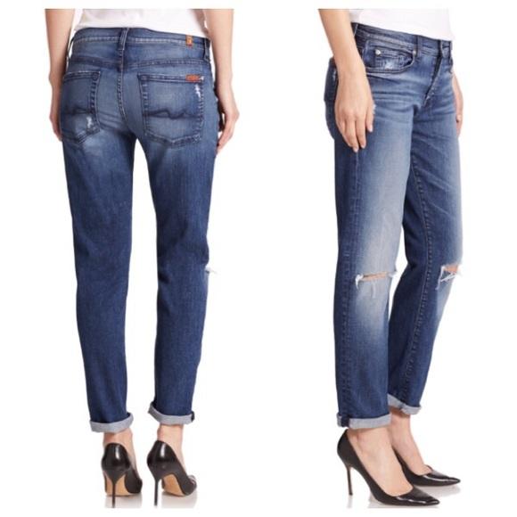 ead4ead2a4675 7 For All Mankind Denim - 7 for all mankind Josefina Skinny Boyfriend Jeans